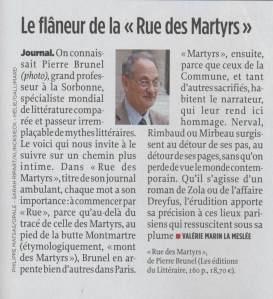le flâneur de la rue des Martyrs